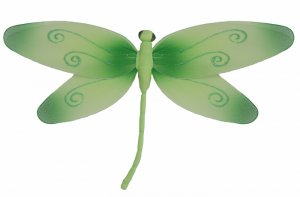 "13"""" Green Swirl Dragonfly - nylon hanging ceiling wall nursery bedroom decor decoration decorations"