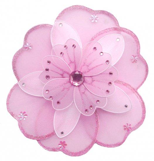 "6"""" Pink & White Triple Layered Daisy Flower - nylon hanging ceiling wall nursery bedroom decor deco"