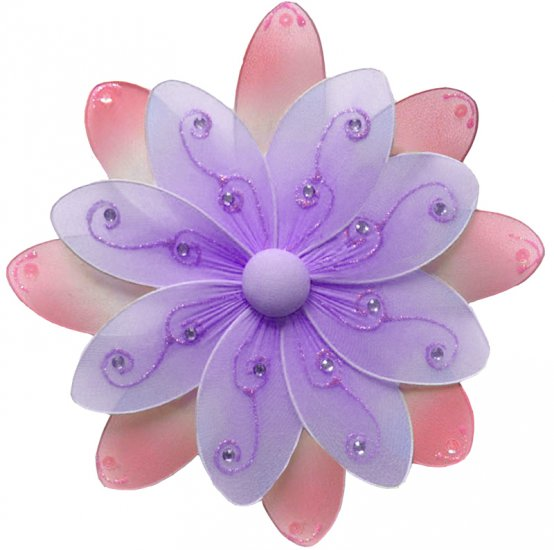 "10"""" Purple & Pink Two-Tone Daisy Flower - nylon hanging ceiling wall nursery bedroom decor decorati"