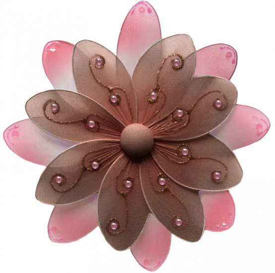 "10"""" Brown & Pink Two-Tone Daisy Flower - nylon hanging ceiling wall nursery bedroom decor decoratio"