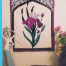 Floral applique  wall hanging pattern Iris