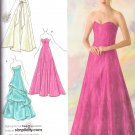 Simplicity pattern Jessica mcClintock evening gown sizes12/20