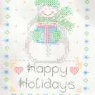 Stamped Cross Stitch Christmas Sampler Snowman