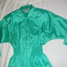 Vintage Joan Walter&#39;s  Aqua Jumpsuit  size 4