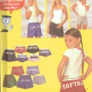 Simplicity  pattern #5729 Shorts with alphabet, appliques sizes XS/XL