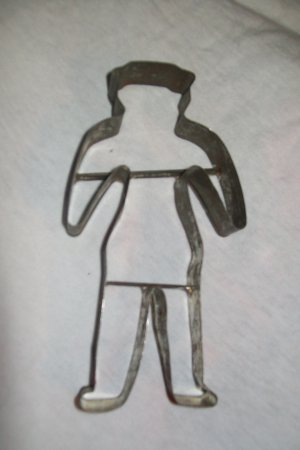 Vintage metal cookie cutter gingerbread man Folk Art