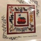 "Miniature Folk art Noah's Ark Quilt pattern size 15""X15"""