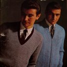 Vintage Beehive Knitting Patterns Sweaters Pullovers Vests Men