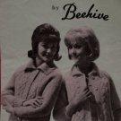 Vintage Beehive Molana Knitting Pattern Ladies Cardigan Sweater