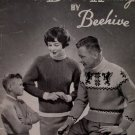 Vintage Beehive Double Knitting Patterns Sweaters Cardigans Family