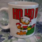 Vintage Garfield Christmas HO HO HO Souvenir Coffee Tea Cup Mug Enesco