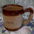 Cheddar England Greyhound Dog Handle Barker Stoneware Souvenir Coffee Tea Cup Mug
