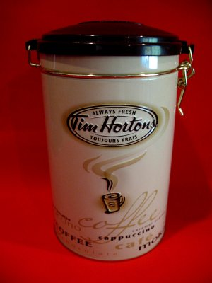 Tim Hortons Coffee Souvenir Tin Canister Cappuccino Cafe Moka Tea Mocha # 5 Edition