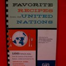 Vintage 1959 UN United Nations World Souvenir Cookbook 185 Recipes