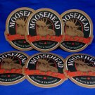 Moosehead Lager Beer Coasters Canada Souvenir set of 6