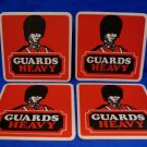 Guards Heavy Ale Beer Coasters England UK Souvenir set of 4