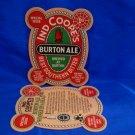 Ind Coopes Burton Ale Beer Coaster England UK Souvenir 1st. Special Edition