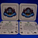 Vintage Wildbrau German Ale Beer Coasters Germany Souvenir set of 4