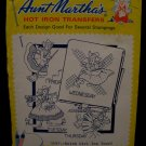 Vintage Aunt Marthas Hot Iron Transfers Dutch Girl Day of the Week Pattern