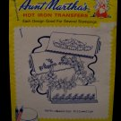 Vintage Aunt Marthas Hot Iron Transfers Flowers Pillowslips Pattern