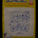 Vintage Aunt Marthas Hot Iron Transfers Busy Bee Bumblebees Pattern SEALED