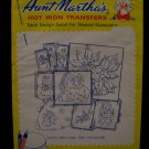 Vintage Aunt Marthas Hot Iron Transfers Christmas Yuletide Santa Pattern SEALED