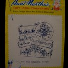 Vintage Aunt Marthas Hot Iron Transfers Flowers Pattern SEALED