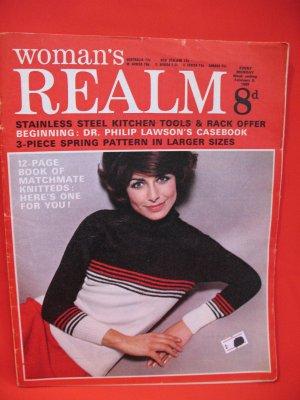 Vintage Feb. 8, 1969 Women's Realm Recipes Knitting Patterns