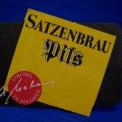 Vintage Satzenbrau Pils Ale Beer Coaster Souvenir