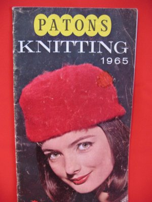 Vintage 1965 Patons 9 Knitting Patterns Jacket Sweater Hat Family