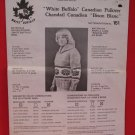 Vintage White Buffalo Canadian Pullover Sweater Knitting Pattern Adults #161