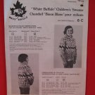 Vintage White Buffalo Canadian Pullover Sweater Knitting Pattern Children #6-C
