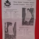 Vintage White Buffalo Canadian Sweater Knitting Pattern Adults #5