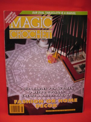Magic Crochet Pattern Magazine June 1995 Collars 1920's Parlor etc