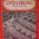 Vintage 1943 Crochet Tatting Pattern Magazine Laces Edgings