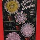 Vintage 1949 Crochet Pattern Magazine Flower Doilies Pansy Doily