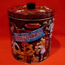 The Krazy Cookie Tin Company Biscuit Canister Embossed Souvenir Collector Tin