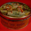 Vintage Hung To Cake Tin Hung To Yuen Co. Hong Kong Exotic Girls Souvenir Collector