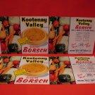 Vintage Russia Russian BC. Doukhobors Dukhobor Glade British Columbia Borsch Labels Souvenir