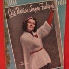Vintage 1949 Chic Parisian Angora Fashions Knitting Crochet Pattern Magazine Beret Hand Muff etc