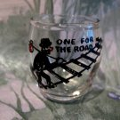Vintage HOBO TRAMP Walking Railway Tracks Souvenir Shot Glass