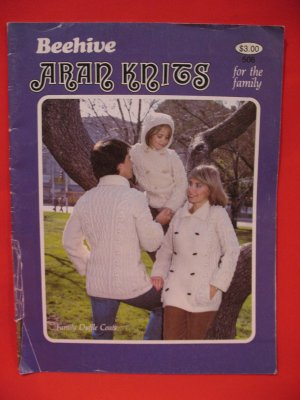 Beehive Arran Aran Fisherman Knits Sweaters Knitting Pattern Family