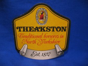 Theakston Brewers North Yorkshire United Kingdom Ale Beer Coaster Souvenir