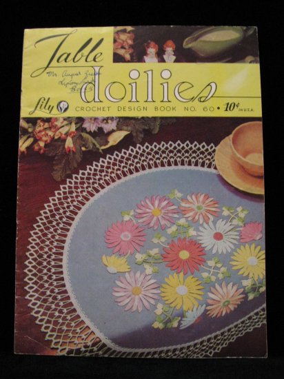 Vintage 1951 Crochet Pattern Magazine Table Doily Doilies