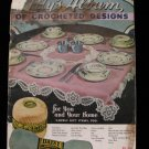 Vintage World War II Crochet Pattern Magazine Tea Cloths Lapel Ornaments Belts etc