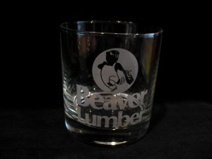 Vintage Beaver Lumber Store Obsolete Advertising Souvenir Collector Glass