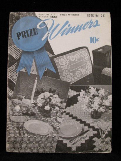 Vintage 1949 Crochet Pattern Magazine Prize Winners Bedspread Curtains Table Runner Tablecloth etc