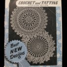 Vintage 1949 Crochet Tatting Pattern Magazine Heirloom Ed. Christian Cross Book Marks Doily Edgings