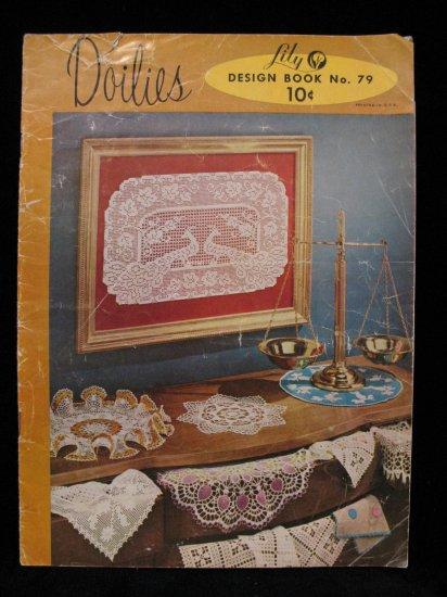 Vintage 1956 Crochet Pattern Magazine Doily Doilies Place Mats Buffet Scarf Chair Set