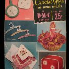 Vintage 1953 Crochet Pattern Magazine Gifts Bazaar Novelties Toaster Cover Potholders Bun Cozy etc